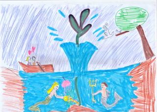 """?Το θαλασσινό τριφύλλι"""" 0δυσσέας Ελύτης   Δ2 τμήμα"""